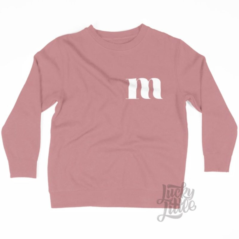 LUCKYLITTLE_MONOGRAM_SWEATER_DUSTYPINK
