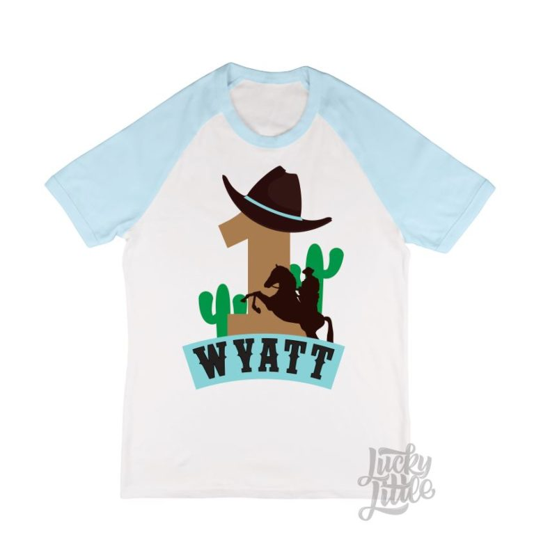 LUCKYLITTLE_retroCOWBOY_kidsbirthdaytshirt
