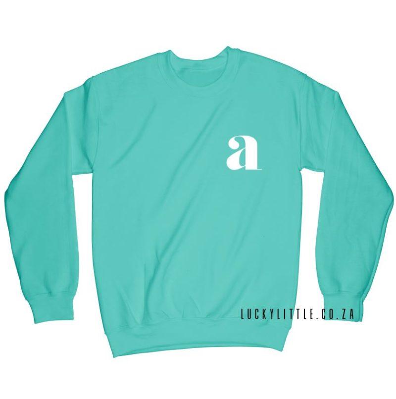 luckylittle_menssweater_monogram_BRIGHTMINT