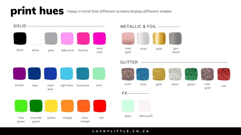 LUCKYLITTLE – PRINT SWATCHES